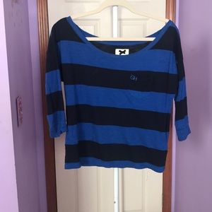 3/4 Sleeve Gilly Hicks Striped Top